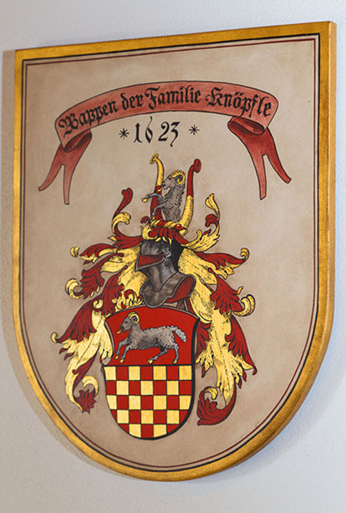 Wappen der Familie Knöpfle